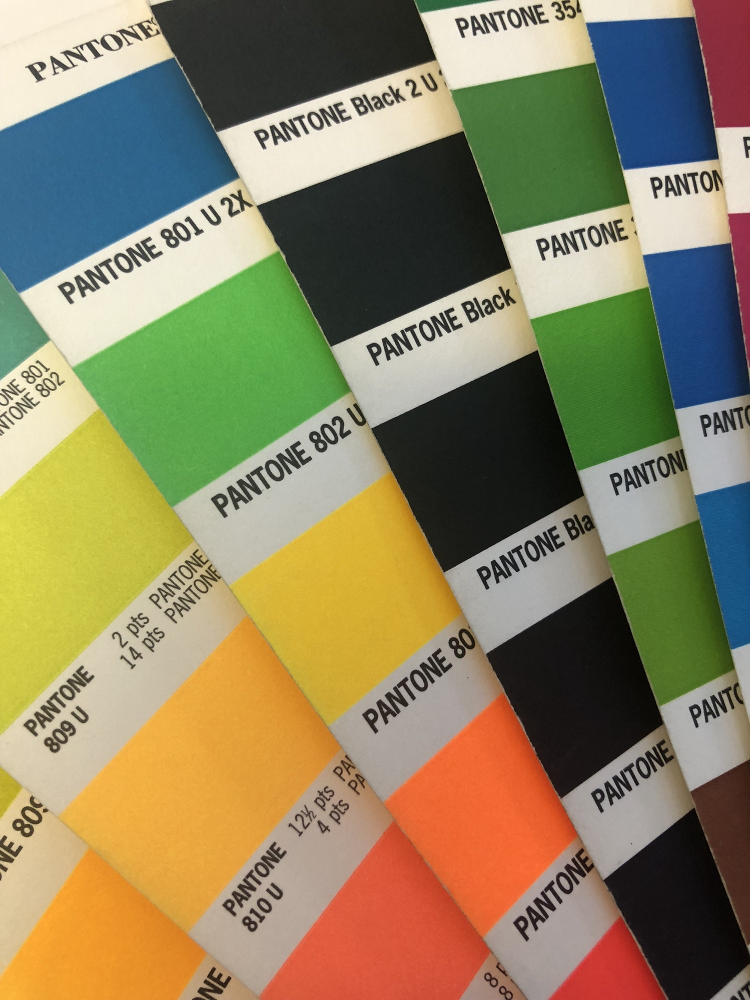 Pantone Swatch Colours